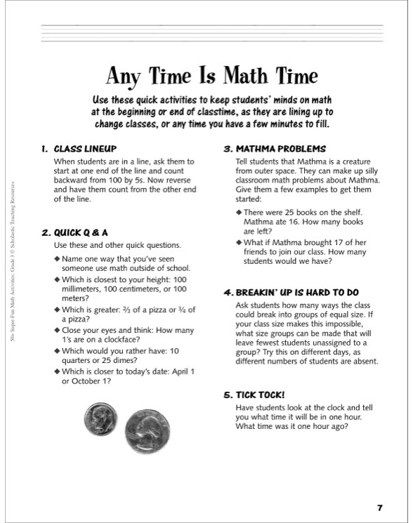 50 super fun math activities grade 3 by carolyn ford brunetto page 3 of 9 see inside image fandeluxe Choice Image