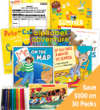 Summer Grade K School Readiness Classroom Set
