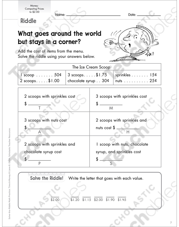 Adding & Subtracting Decimals Grade 2 Differentiation Pack by