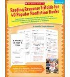 Reading Response Trifolds for 40 Popular Nonfiction Books: Grades 2-3