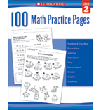 100 Math Practice Pages: Grade 2