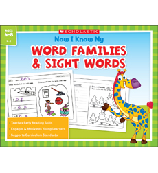 Now I Know My Word Families and Sight Words