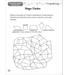 shape finder geometric shapes properties scholastic success