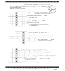 In Their Own Words: Sitting Bull - Activity Sheet