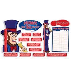 Abe Lincoln Growth Chart! Bulletin Board