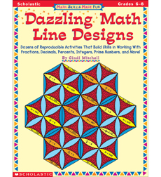 Math Skills Made Fun: Dazzling Math Line Designs: Grades 6-8