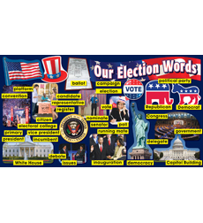 Election Word Wall Mini Bulletin Board