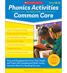 Phonics Activities to Meet the Common Core