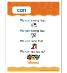 Sight Word - Can: Sight Word Poem and Word Cards
