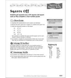 Square & Square Roots: Square Off