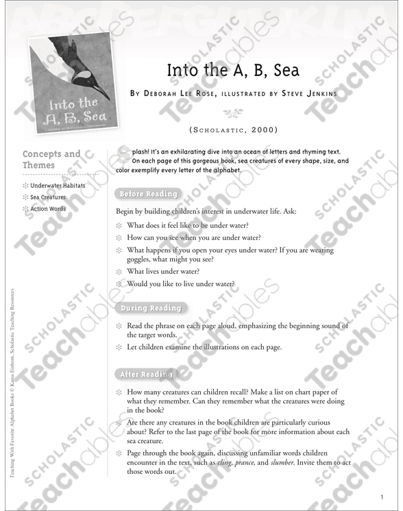 Into The A B Sea Letter Ss Teaching With Favorite Alphabet Books