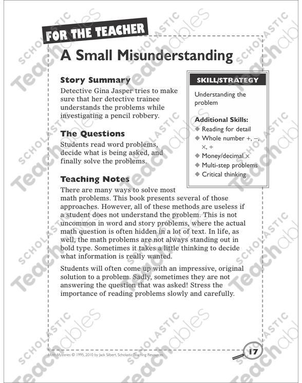 a small misunderstanding understanding a problem math mystery