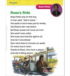 Rosa Parks (December/Rosa Parks Day): Famous American of the Month
