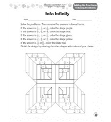 Into Infinity (Adding Like Fractions/Reducing Fractions): Scholastic Success With Math (Grade 3)