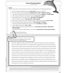 island of the blue dolphins activity sheet by scott o dell island of the blue dolphins activity sheet