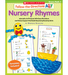 Follow-the-Directions Art: Nursery Rhymes 9780545195089