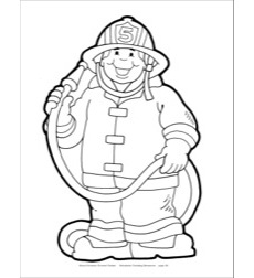 Firefighter (B&W) Reproducible Pattern
