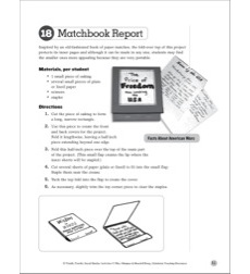 Matchbook Report: Social Studies Bookmaking Project