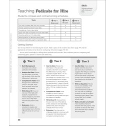 Pedicabs for Hire (Pricing Schedules Comparison): Tiered Math Reproducibles (Grades 4-6)