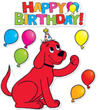 Clifford Birthday Bulletin Board