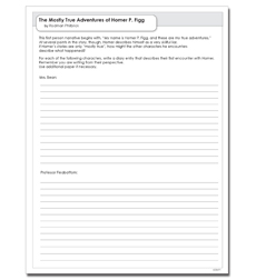 Mostly True Adventures of Homer P. Figg, The - Activity Sheet