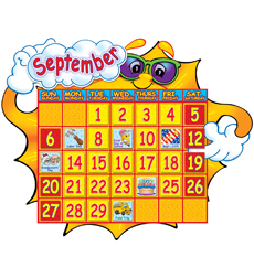 Super Sunshine! Calendar Bulletin Board