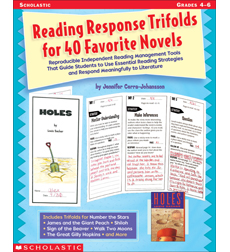 Reading Response Trifolds for 40 Favorite Novels