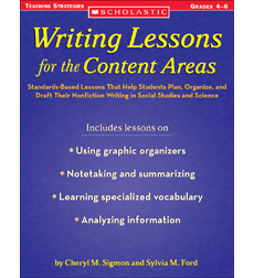Writing Lessons for the Content Areas 9780545193191