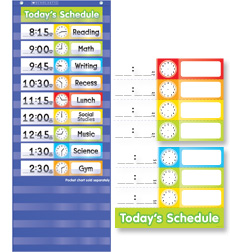 Daily schedule pocket chart set by