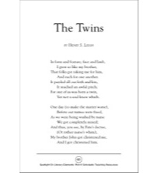 The Twins, A Poem by Henry S. Leigh (Plot): Spotlight On Literary Elements