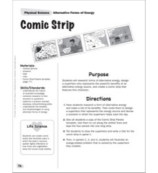 Comic Strip - Alternative Forms of Energy: Physical Science Project