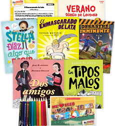 My Books Summer Spanish Grade 4 Fiction Pack