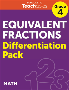 Equivalent Fractions Grade 4 Differentiation Pack