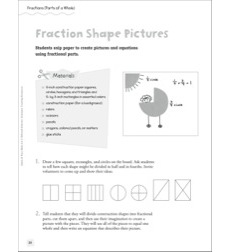 Fraction Shape Pictures (Parts of a Whole): Quick & Easy Math Art