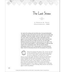 The Last Straw, by Frederick H. Thury: Winter Holiday Picture Book Unit