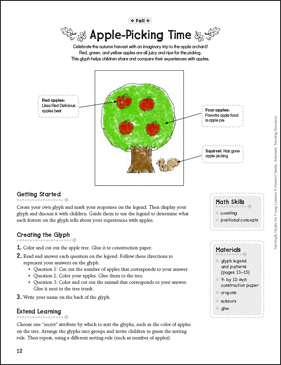 Apple-Picking Time: Fall Glyph Activity