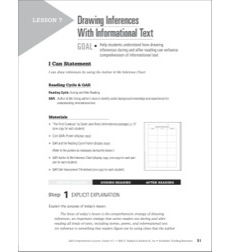 Drawing Inferences With Informational Text: QAR Comprehension Lessons (Grades 4-5)