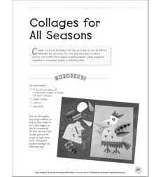 Collages for All Seasons: Seasonal Art Project