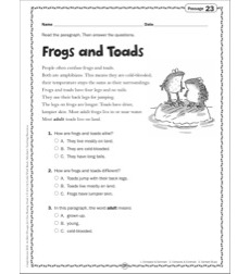 Frogs and Toads: Grade 2 Close Reading Passage