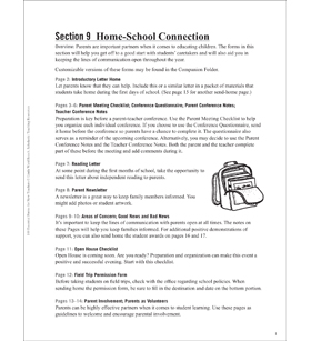 Home-School Connection: Essential Forms for Teachers