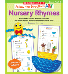 Follow-the-Directions Art: Nursery Rhymes 9780545102193