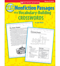 Nonfiction Passages With VocabularyBuilding Crosswords By Jan - Us map crosswords scholastic professional books answers