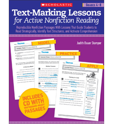 Text-Marking Lessons for Active Nonfiction Reading: Grades 4–8
