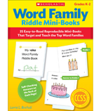 Word Family Riddle Mini-Books