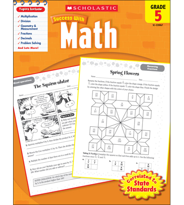 Scholastic Success With Math: Grade 5