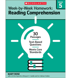 Week-by-Week Homework: Reading Comprehension Grade 5
