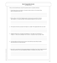 March Toward the Thunder - Activity Sheet