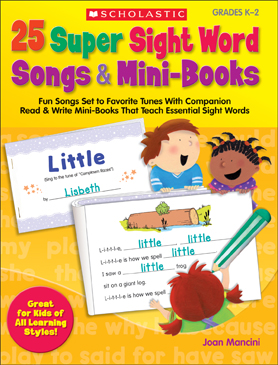 25 Super Sight Word Songs Mini Books on Essential Activities Sight Word Get