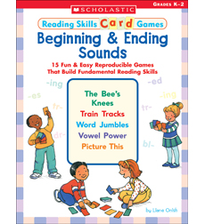 Reading Skills Card Games: Beginning & Ending Sounds