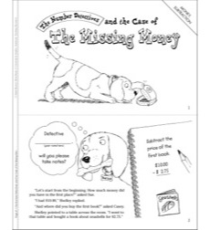 The Case of the Missing Money (Money, Subtraction): Math Mystery Mini-Book